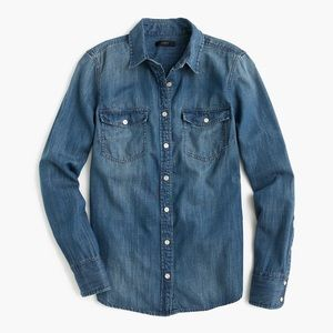 J. Crew Western Chambray Button Down Shirt